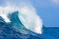 Big ocean wave, Keauhou Bay, Kona Coast, Big Island, Hawaii, Pacific Ocean.