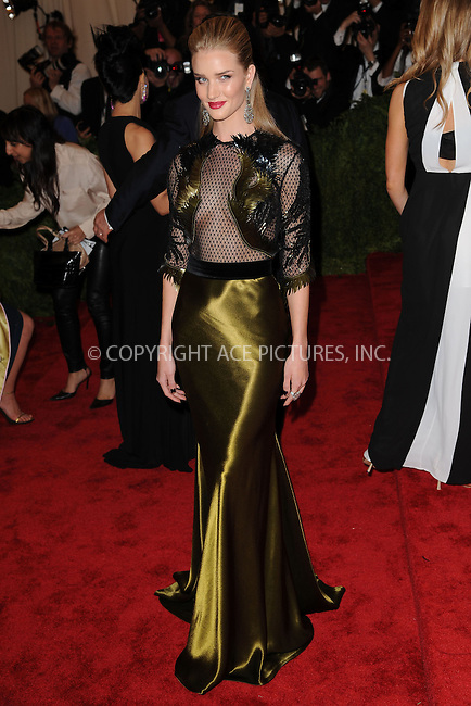WWW.ACEPIXS.COM . . . . . .May 6, 2013...New York City...Rosie Huntington-Whiteley attending the PUNK: Chaos to Couture Costume Institute Benefit Gala at The Metropolitan Museum of Art in New York City on May 6, 2013  in New York City ....Please byline: Kristin Callahan...ACEPIXS.COM...Ace Pictures, Inc: ..tel: (212) 243 8787 or (646) 769 0430..e-mail: info@acepixs.com..web: http://www.acepixs.com .