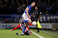 Will Keane of Ipswich Town and Harry Toffolo of Lincoln City during Ipswich Town vs Lincoln City, Emirates FA Cup Football at Portman Road on 9th November 2019