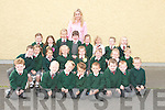 Boys and girls on their first day at Firies National School on Monday. Front row from left, Tomas Scott, James O'Leary, Conor O'Sullivan, Eoghan McKenna, Cian Doe, Robert Nealan, Ian Nelligan and Cian Cronin. Middle row from left, Ben Herlihy, Ciara Kearney, Larissa Ponsford, Caitlin McEnteggart, Alice Norris, Megan Daly, Olivia Darlington and Conor Brosnan. Back row from left, Chloe O'Connor, Martha Fitzgerald, Mileta Formalyte, Mairead O'Mahony, Olivia Goulding, Kimberely O'Brien, Lee O'Donoghue and Faith Pilkington.