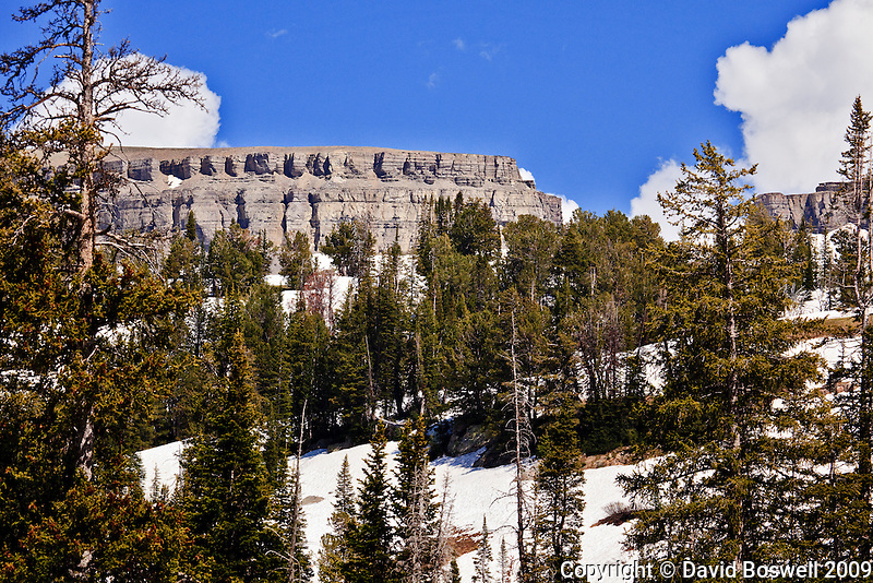 The 3 mile long Death Canyon Shelf forms the imposing western wall of upper Death Canyon in Grand teton National Park.