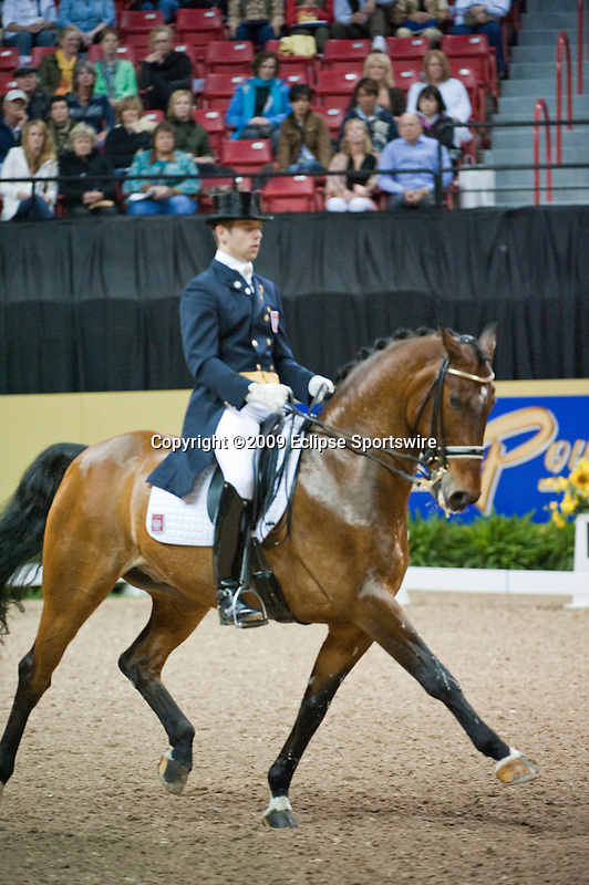 16 April 2009: Michelle Spadone and Melisimo at the Dressage Grand Prix at the Rolex FEI World Cup Finals.