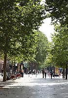 General view of Esplanade des Français d'Afrique du Nord, Toulouse, Occitanie, France on 23.7.19.