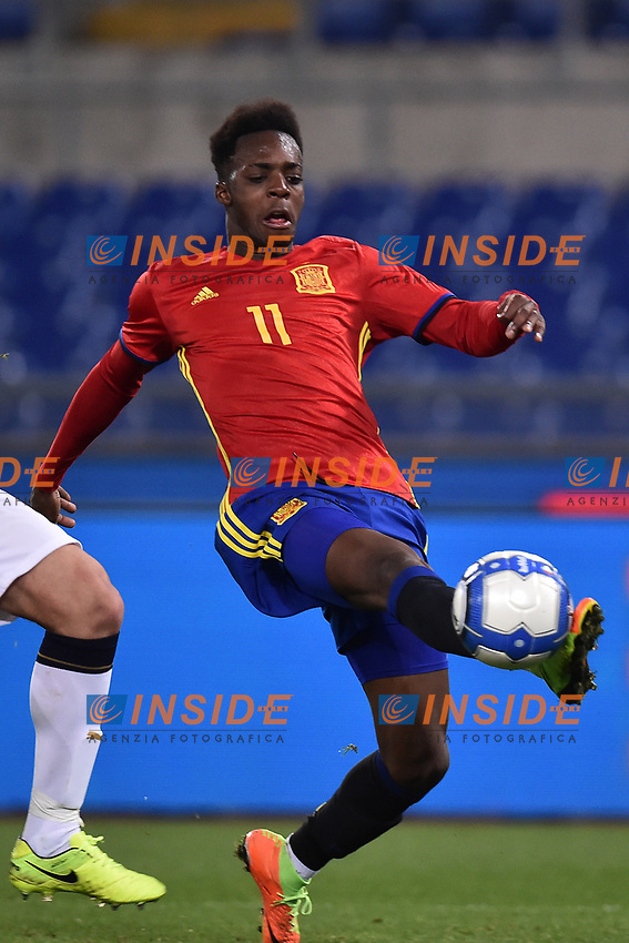 Inaki Williams Spagna <br /> Roma 27-02-2017, Stadio Olimpico<br /> Football Friendly Match  <br /> Italy - Spain Under 21 Foto Andrea Staccioli Insidefoto
