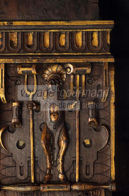 Europe/Belgique/Flandre/Province d'Anvers/Anvers : Maison de Rubens - Détail semelle des poutres