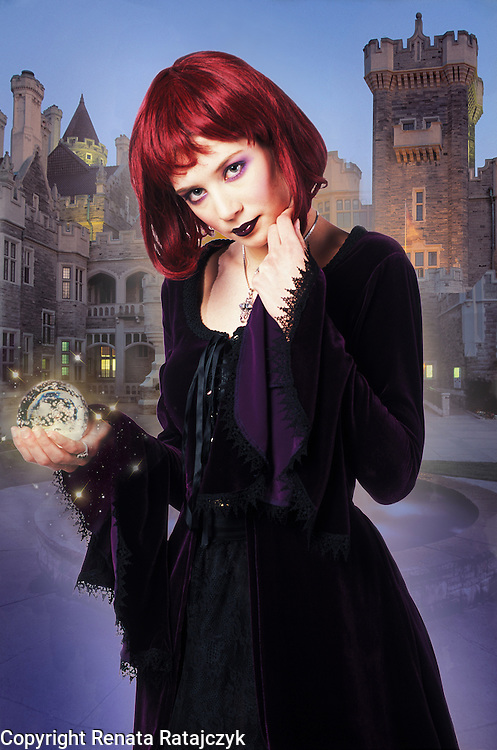 The Magician - creative fantasy portrait of a young woman depicted as magician.