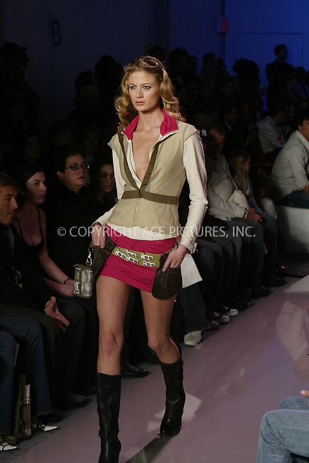 WWW.ACEPIXS.COM . . . . . ....NEW YORK, FEBRUARY 5, 2005....Model at Oakley Fall 2005.....Please byline: Philip Vaughan -- ACE PICTURES.. . . . . . ..Ace Pictures, Inc:  ..Philip Vaughan (646) 769-0430..e-mail: info@acepixs.com..web: http://www.acepixs.com