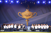 Scotland's Commonwealth Games Medalists on stage during the Opening Ceremony for the 2014 Ryder Cup.  The 40th Ryder Cup is being played over the PGA Centenary Course at The Gleneagles Hotel, Perthshire from 26th to 28th September 2014.: Picture Stuart Adams, www.golftourimages.com: \25-Sep-14\