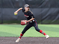 NWA Democrat-Gazette/CHARLIE KAIJO Northside High School Danessa Teague (4) throws during the 6A State Softball Tournament, Thursday, May 9, 2019 at Tiger Athletic Complex at Bentonville High School in Bentonville. Rogers Heritage High School lost to Northside High School 8-6