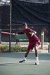 April 23, 2015; San Diego, CA, USA; Loyola Marymount Lions tennis player Errol Smith during the WCC Tennis Championships at Barnes Tennis Center.