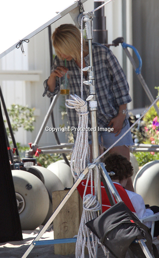 """TUESDAY August 31, 2010....Richard Jenkins took off his pants wearing just his underwear while filming a scene with Justin Timberlake, Jenna Elfman & Mila Kunis. fFilming the movie """"Friends with Benefits"""" in Malibu beach. ..AbilityFilms@yahoo.com.805-427-3519.www.AbilityFilms.com."""