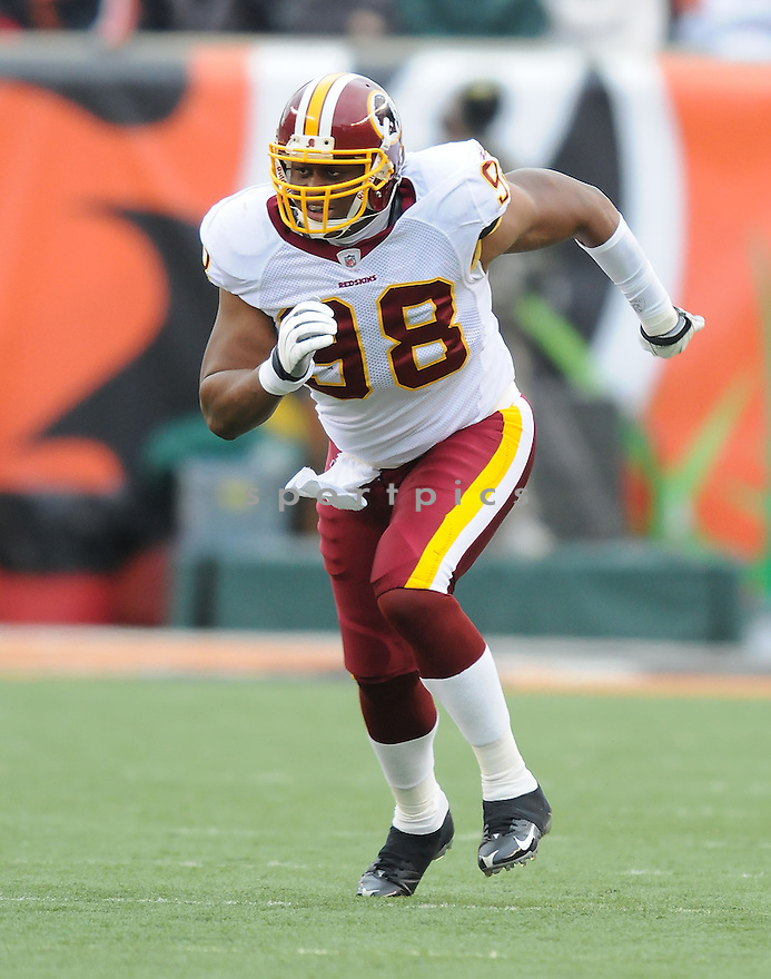ROB JACKSON, of the Washington Redskins , in action  during the Redskins game against the  Cincinnati Bengals  on December 14, 2008 in Cincinnati, OH...Bengals win 20-13