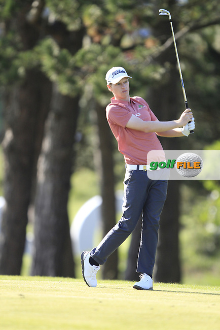 Kevin Phelan (IRL) on the 1st fairway during Round 1 of the 2015 KLM Open at the Kennemer Golf &amp; Country Club in The Netherlands on 10/09/15.<br /> Picture: Thos Caffrey | Golffile
