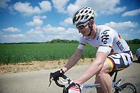 a relaxed André Greipel (DEU/Lotto-Belisol)<br /> <br /> 2014 Belgium Tour<br /> stage 4: Lacs de l'Eau d'Heure - Lacs de l'Eau d'Heure (178km)