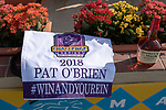 "DEL MAR, CA  AUGUST 25:  The Breeders' Cup Challenge saddle towel, Maker's Mark and BC2018 caps for the Pat O'Brien Stakes (Grade ll), Breeders' Cup ""Win and You're In Dirt Mile Division"" on August 25, 2018 at Del Mar Thoroughbred Club in Del Mar, CA.(Photo by Casey Phillips/Eclipse Sportswire/Getty ImagesGetty Images"
