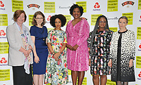 Pat Barker, Madeline Miller, Diana Evans, Tayari Jones (winning novelist), Oyinkan Braithwaite and Anna Burns at the Women's Prize for Fiction Awards 2019, Bedford Square Gardens, Bedford Square, London, England, UK, on Wednesday 05th June 2019.<br /> CAP/CAN<br /> ©CAN/Capital Pictures