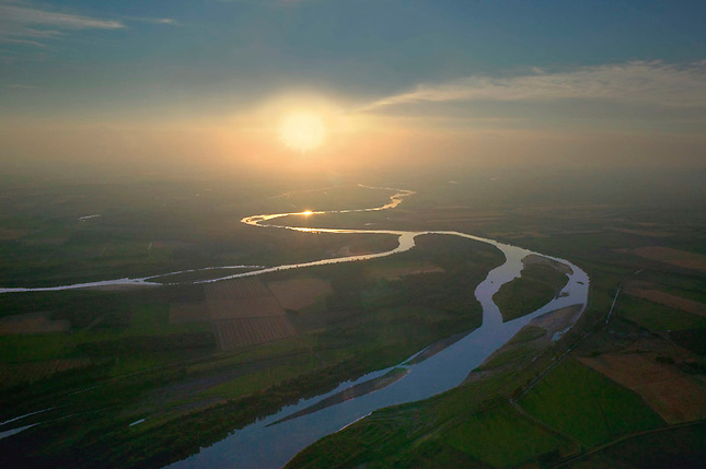 Confluence of Yellowstone and Missouri rivers