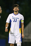 05 October 2015: Hofstra's Harri Hawkins (ENG). The Duke University Blue Devils hosted the Hofstra University Pride at Koskinen Stadium in Durham, NC in a 2015 NCAA Division I Men's Soccer match. Duke won the game 3-2 in overtime.