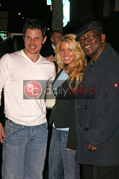 Nick Lachey, Jessica Simpson and Randy Jackson