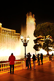 USA, Nevada, Las Vegas, tourists enjoy the water show in front of the Bellagio Hotel and Casino, Sin City