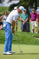 Justin Thomas (USA) sinks his par putt on 3 during Rd4 of the 2019 BMW Championship, Medinah Golf Club, Chicago, Illinois, USA. 8/18/2019.<br /> Picture Ken Murray / Golffile.ie<br /> <br /> All photo usage must carry mandatory copyright credit (© Golffile | Ken Murray)