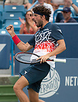August 15,2018:  Robin Haase (NED) defeated Alexander Zverev (GER) 5-7, 6-4, 7-5, at the Western & Southern Open being played at Lindner Family Tennis Center in Mason, Ohio.  ©Leslie Billman/Tennisclix