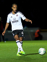 Dennis Odoi of Fulham during the Carabao Cup match between Wycombe Wanderers and Fulham at Adams Park, High Wycombe, England on 8 August 2017. Photo by Alan  Stanford / PRiME Media Images.