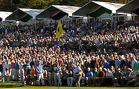 Vijay Singh hits the ball from a crowd during the 2007 Wachovia Championships at Quail Hollow Country Club in Charlotte, NC.