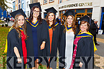 Katie O'Sullivan, Ciara Twomey, Sarah Brosnan, Dorinda Burke, Valerie O'Connor at their Graduation Ceremony from the I T Tralee in the Brandon Hotel on Friday.
