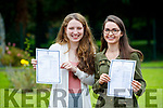Katie Ahern and Aoife O'Mahony, Tralee, students from Presentation Secondary School, Tralee, who received their Leaving Certificate results on Wednesday morning last.