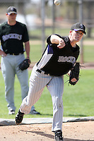 Daniel Houston, Colorado Rockies 2010 minor league spring training..Photo by:  Bill Mitchell/Four Seam Images.