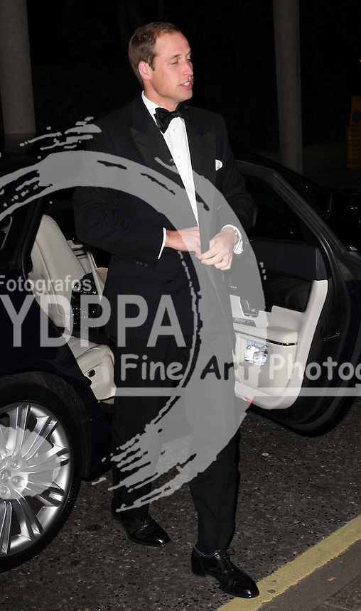 The Duke of Cambridge arriving at the Savoy hotel in London for a charity dinner in aid of the St.Giles Trust, Wednesday, October 17th 2012. Photo by: Stephen Lock / i-Images / DyD Fotografos