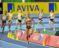 Photo: Paul Greenwood/Richard Lane Photography. Aviva World Trials & UK Championships. 14/02/2010. .Jenny Meadows wins the Womens 800m by a considerable distance.
