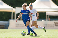 Seattle, WA - Sunday, May 1, 2016:  Seattle Reign FC midfielder Kim Little (8) looks to pass during the first half of a National Women's Soccer League (NWSL) match at Memorial Stadium. Seattle won 1-0.