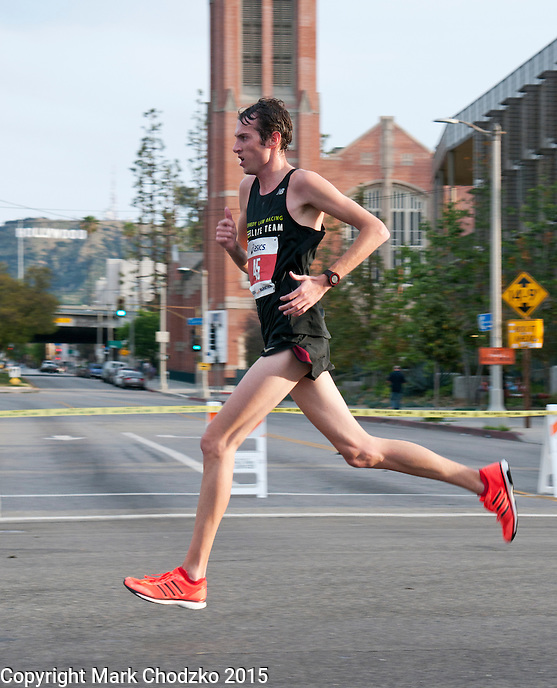 Male Elite Runner competes in the L.A. Marathon.