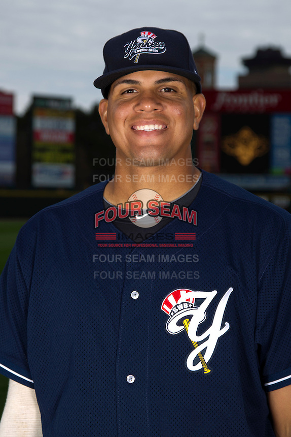 Scranton Wilkes-Barre Yankees pitcher Dellin Betances poses for a photo during media day at Frontier Field on April 3, 2012 in Rochester, New York.  (Mike Janes/Four Seam Images)