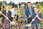 Susan O'Shea Milltown, Pat Sullivan Glenbeigh, Dai?thi de Prat Milltown, Timmy Sullivan Glenbeigh and Joe O'Sullivan Cromane who participated in the World Hole digging championships in Milltown on Sunday.