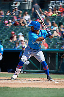 Amarillo Sod Poodles Ivan Castillo (2) bats during a Texas League game against the Frisco RoughRiders on May 19, 2019 at Dr Pepper Ballpark in Frisco, Texas.  (Mike Augustin/Four Seam Images)