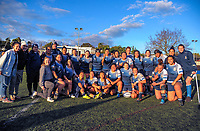 The College Rifles team pose for a team photo after the Auckland Women's Rugby premier match between College Rifles and East Coast Bays at College Rifles Park in Auckland, New Zealand on Saturday, 9 June 2018. Photo: Dave Lintott / lintottphoto.co.nz