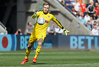 Marek Rodak of Rotherham United in action during the Sky Bet Championship match between Swansea City and Rotherham United at the Liberty Stadium, Swansea, Wales, UK. Friday 19 April 2019