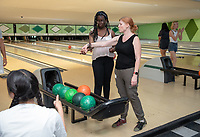 Kimberly Uribe, Director of External Relations and Events for the President,<br /> Office of College Events<br /> Incoming first-years participating in MSI bowl with members of senior staff at All Star Lanes bowling alley in Eagle Rock, July 27, 2018.<br /> The Multicultural Summer Institute (MSI) is a four-week academic/residential program for approximately 50 incoming first-year students who represent a variety of ethnic, regional and cultural backgrounds. Through MSI, Occidental College introduces its student body to the social, cultural and intellectual resources of Southern California, and familiarizes students with the Oxy community and surrounding Los Angeles area.<br /> (Photo by Marc Campos, Occidental College Photographer)