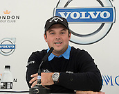 14.10.2014. The London Golf Club, Ash, England. The Volvo World Match Play Golf Championship.  Ryder Cup Player Patrick Reed [USA] at the morning press conference.