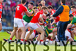 Kerry in action against  Cork in the National Football League at Pairc Ui Rinn, Cork on Sunday.