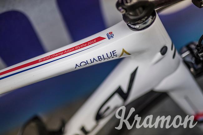 British National Champion Adam Blythe's (GBR/Aqua Blue Sport) bike<br /> <br /> 57th Brabantse Pijl - La Fl&egrave;che Braban&ccedil;onne (1.HC)<br /> 1 Day Race: Leuven &rsaquo; Overijse (197km)