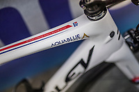 British National Champion Adam Blythe's (GBR/Aqua Blue Sport) bike<br /> <br /> 57th Brabantse Pijl - La Fl&egrave;che Braban&ccedil;onne (1.HC)<br /> 1 Day Race: Leuven &rsaquo; Overijse (197km)