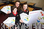 Jasmine Griffen, Katie Raftery and Adina Greaney from Mean Scoil an Leith Triuigh, Castlegregory who came XXX in the  All-Ireland Final of the enterprise awards in the ITT on Thursday.