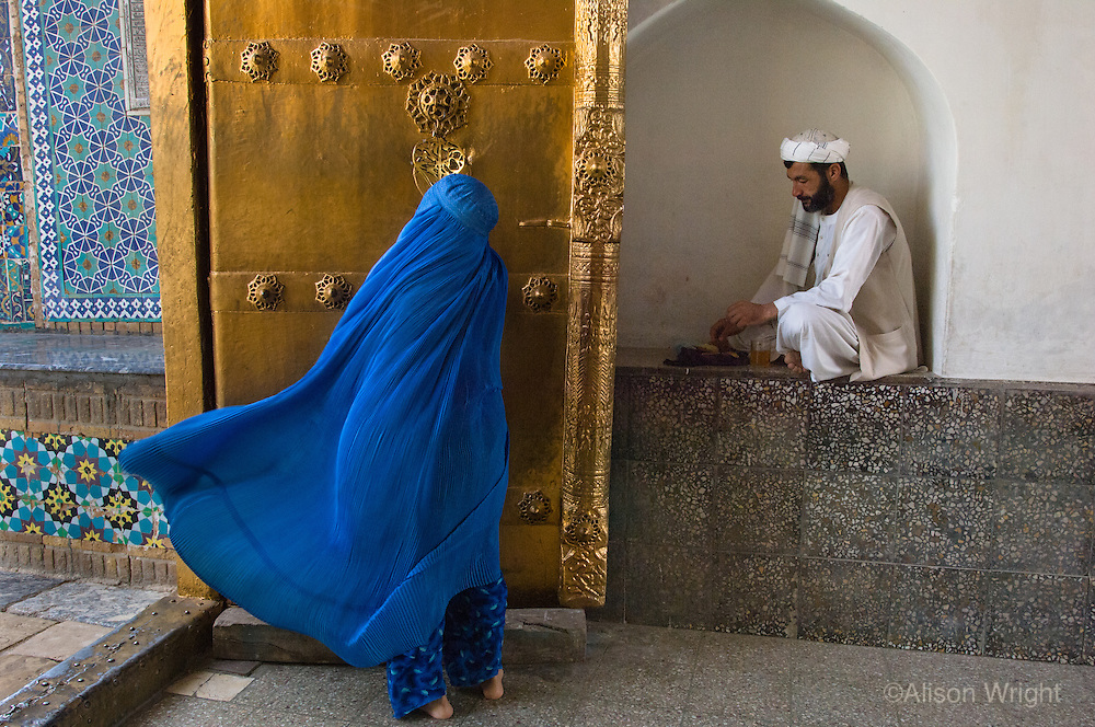 Pilgrims at the Blue Mosque.