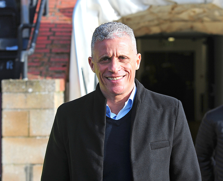 Northampton Town manager Keith Curle during the pre-match warm-up<br /> <br /> Photographer Andrew Vaughan/CameraSport<br /> <br /> The EFL Sky Bet League Two - Lincoln City v Northampton Town - Saturday 9th February 2019 - Sincil Bank - Lincoln<br /> <br /> World Copyright © 2019 CameraSport. All rights reserved. 43 Linden Ave. Countesthorpe. Leicester. England. LE8 5PG - Tel: +44 (0) 116 277 4147 - admin@camerasport.com - www.camerasport.com