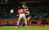 Sene Naoupu of Barbarians offloads <br /> <br /> Photographer Ian Cook/CameraSport<br /> <br /> 2019 Autumn Internationals - Wales Women v Barbarians Women - Saturday 30th November 2019 - Principality Stadium - Cardifff<br /> <br /> World Copyright © 2019 CameraSport. All rights reserved. 43 Linden Ave. Countesthorpe. Leicester. England. LE8 5PG - Tel: +44 (0) 116 277 4147 - admin@camerasport.com - www.camerasport.com