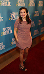Lucy DeVito attends Broadway Red Carpet Premiere of 'Speech & Debate'  at the American Airlines Theatre on April 2, 2017 in New York City.